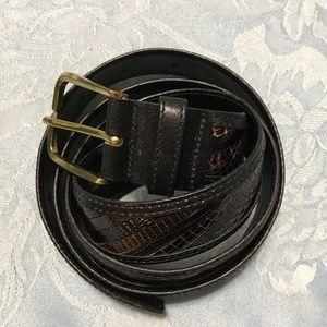 VTG Colours Men's Lizard & Leather Belt 38